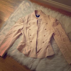 Zara solider style jacket with pearls